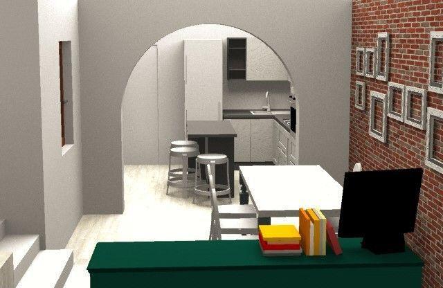 Design e Realizzazione, Ambiente, Progetto Cucina e sala pranzo, Moderno