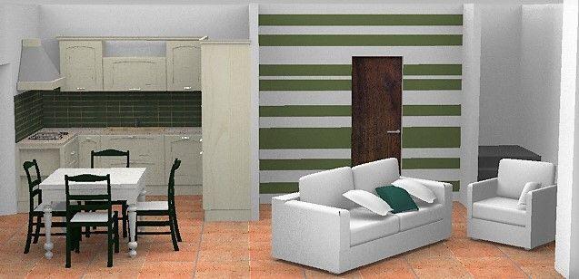 Design e Realizzazione, Ambiente, Progetto Cucina e Soggiorno, Moderno