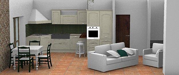 Design e Realizzazione, Ambiente, Progetto Cucina e soggiorno 2, Moderno