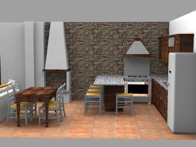 Design e Realizzazione, Ambiente, Progetto Cucina Soggiorno, Moderno