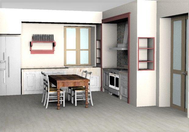 Design e Realizzazione, Ambiente, Progetto Cucina in Muratura, Classico