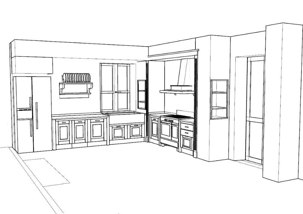 Awesome cucina in muratura progetto gallery house interior - Cucina in muratura ...
