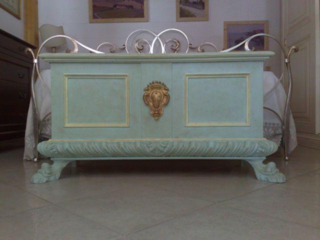 Camera cassapanca cassapanca decorata riprod rinascimento - Cassapanca decorata ...